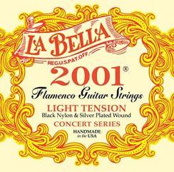 La Bella Flamenco 2001 - Light Tension Black Zwarte Nylon snaren voor flamencogitaar