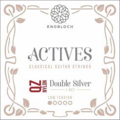 Knobloch 200ADQ Actives Double Silver QZ Nylon snaren voor klassieke gitaar I Low Tension