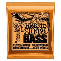 Ernie Ball 2833 Hybrid Slinky Bass snarenset voor basgitaar (45-105) Longscale