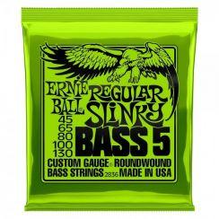Ernie Ball 2836 Regular Slinky Bass snarenset voor 5-snarige basgitaar (045-130) Longscale