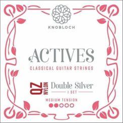 Knobloch 300ADQ Actives Double Silver QZ Medium Tension   Nylon snaren voor klassieke- en flamencogitaar