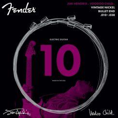 Fender Jimi Hendrix Voodoo Child Gitaarsnaren (10-38) Vintage Nickel met Bullet einde 0733150609