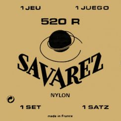 Savarez 520R Hard Tension Klassieke gitaarsnaren Rouge - Rectifying nylon trebles