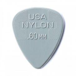 Dunlop Nylon Plectrum 0.60mm - Licht Grijs per stuk - Dunlop Guitar Pick Light Grey Grip