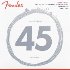 Fender 7250M Snaren voor Elektrische Basgitaar Medium (45-105) Nickel Plated Steel Roundwound Long Scale