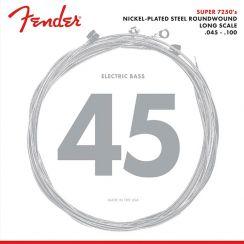 Fender 7250ML  Snaren voor Elektrische Basgitaar Medium Light (45-100) Nickel Plated Steel Roundwound Long Scale