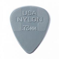 Dunlop Nylon Plectrum 0.73mm - Grijs kleurig per stuk - Dunlop Guitar Pick Grey Grip