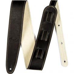 Fender Zwart Leren Gitaarband Baseball Glove - Fender Ball Glove Leather Strap Black
