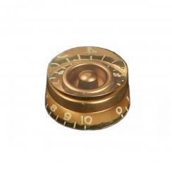 Potmeterknop Boston speed knop Goud Verouderd Relic - KG-110I-R (Hatbox) voor Inch Size USA Pots