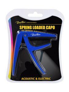Capo voor akoestische/elektrische gitaar met klem(veer) Blauw I Boston BC-85-BU