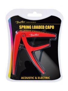 Capo voor akoestische/elektrische gitaar met klem(veer) Rood I Boston BC-85-RD