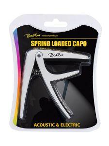 Capo voor akoestische/elektrische gitaar met klem(veer) Wit I Boston BC-85-WH