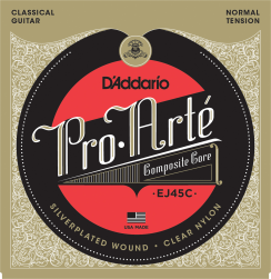 D'Addario EJ45C Composite Normal Tension snaren voor de klassieke gitaar - met Extra Composite G snaar