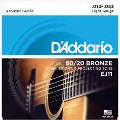 D'Addario EJ11 snaren 80/20 Bronze Light - snaren voor de akoestische westerngitaar (12-53)