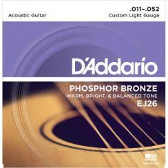 D'Addario EJ26 Custom Light 011 Phosphor Bronze Akoestische western gitaarsnaren (11-52)