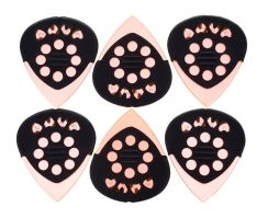 Dava Jazz Grip Poly Gel Plectrum - 6 Pack