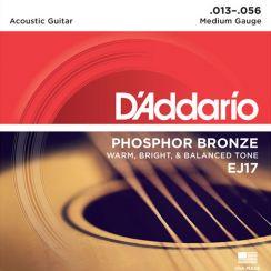 D'Addario EJ17 Phosphore Bronze Westernsnaren (13-56)