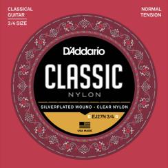D'Addario EJ27N 3/4 Klassieke Gitaarsnaren - Normale Spanning voor de driekwart gitaar