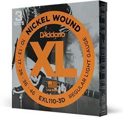 D'Addario EXL110-3D Snaren voor de Elektrische Gitaar (10-46) 3-Pack Regular Light