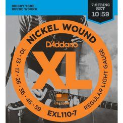 D'Addario EXL110-7 Snarenset voor 7-Snarige Elektrische Gitaar (10-59)