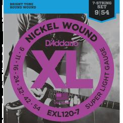 D'Addario EXL120-7 Snarenset voor 7-Snarige Elektrische Gitaar (09-54)