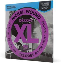 D'Addario EXL120BT Round Wound Snaren voor de Elektrische Gitaar  (9-42) Super Light Balanced Tension