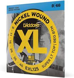 D'Addario EXL125 Nickel Wound Snaren voor de Elektrische Gitaar (9-46) Super Light Top / Regular Bottom