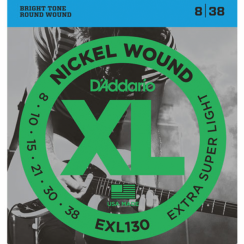 D'Addario EXL130 Snaren voor de Elektrische Gitaar (8-38) Extra Super Light