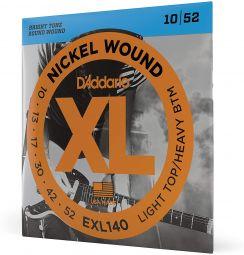 D'Addario EXL140 Snaren voor de Elektrische Gitaar (10-52) Light Top / Heavy Bottom