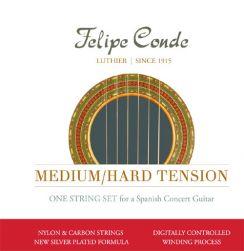 Felipe Conde Nylon Carbon - Medium/Hard Tension snaren voor de klassieke gitaar en flamenco gitaar