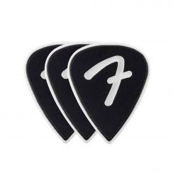 Fender F Grip 351 Picks Celluloid Zwarte plectrum (set van 3)