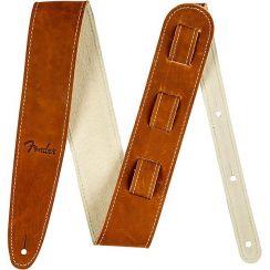 Fender Bruin Leren Gitaarband Baseball Glove - Fender Ball Glove Leather Strap Brown