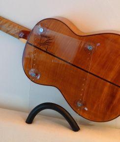 Guitarlift Big Plate - Gitaarsteun Transparant Guitar Support Classical Guitar