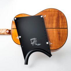 Guitarlift Big Plate - Gitaarsteun Zwart Guitar Support Classical Guitar