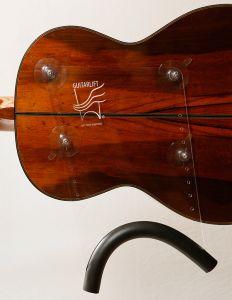 Guitarlift Medium Plate - Gitaarsteun Transparant voor de klassieke gitaar
