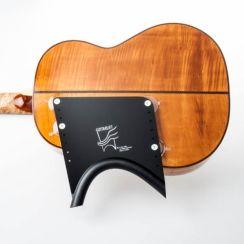 Guitarlift Half Plate - Gitaarsteun Zwart voor de klassieke gitaar en akoestische westerngitaar