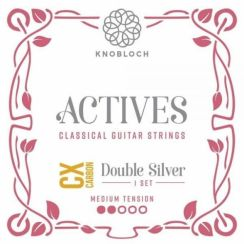 Knobloch 300ADC Actives Double Silver CX Carbon Medium Tension | snaren voor klassieke- en flamencogitaar
