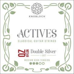 Knobloch 400 ADQ Actives Double Silver QZ Nylon Silver Medium/High Tension   Snaren voor klassieke- en flamencogitaar