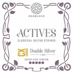 Knobloch 600ADC Actives Double Silver CX Carbon klassieke snarenset I Super High tension