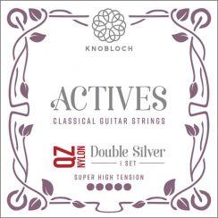 Knobloch 600 ADQ Actives Double Silver QZ Nylon voor de klassieke gitaar - Super High Tension