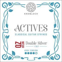 Knobloch 500 ADQ Actives Double Silver QZ Nylon High Tension | Snaren voor klassieke- en flamencogitaar