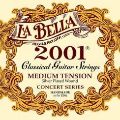 La Bella Classic 2001 Concert Series - Medium Tension snaren voor Klassieke Gitaar