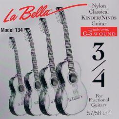 3/4 La Bella snaren voor de Driekwart Klassieke Gitaar - Set FG134