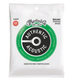 Martin MA540S Silked Marquis Authentic Acoustic 012-54 Phosphor Bronze Light snaren