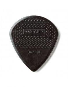 Dunlop Max Grip Black Stiffo Jazz III Zwart Plectrum I Per Stuk