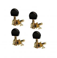 Mahalo stemmechanieken voor ukelele set van 4 stuks -  UMH100G/GD/BK