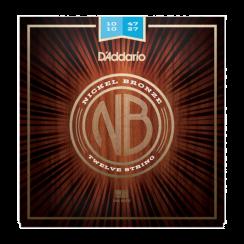 D'Addario NB1047-12 Nickel Bronze snaren voor 12-snarige Akoestische Gitaar (010-47)