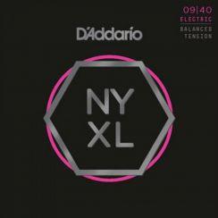 D'Addario NYXL0940BT Elektrische Gitaarsnaren (9-40) Balanced Tension Super Light