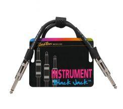 Boston Patchkabel Black Jack PC-220-50 I 50cm voor het doorlussen van effectpedalen