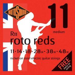 Rotosound R11 Reds Snarenset voor de Elektrische Gitaar (11-48) Medium I met een gratis 1-E snaar